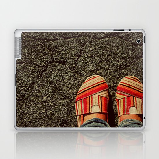 Shoes on Cement Laptop & iPad Skin