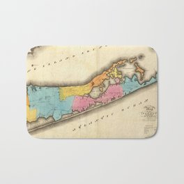 Vintage Map of Suffolk New York (1829) Bath Mat