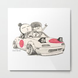 Crazy Car Art 0167 Metal Print