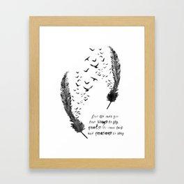 Birds feather Framed Art Print