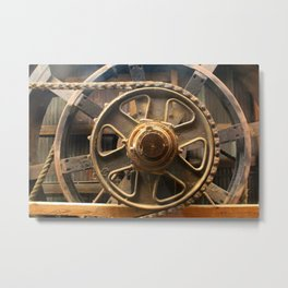 Gears of the Past Metal Print