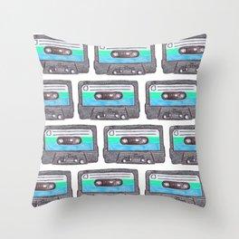 Cassette Patten *Light Blue Throw Pillow