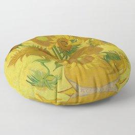 Vincent van Gogh - Sunflowers Floor Pillow