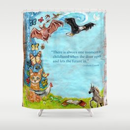 Graham Greene, childhood Shower Curtain