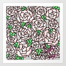 Roses & Roses Art Print