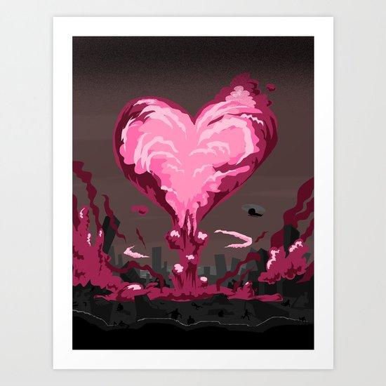 Love Explosion Art Print By Davidkantrowitz Society6