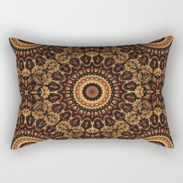 Autum Colors Mandala Rectangular Pillow