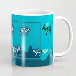 Muntjac Blue. Coffee Mug