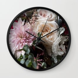 Large floral bouquet - Dahlia and Rose I Wall Clock