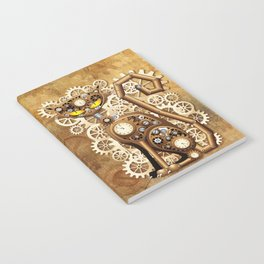 Steampunk Cat Vintage Style Notebook