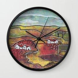 seasonal landscape - summer Wall Clock