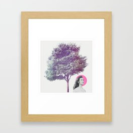 She Dreams Framed Art Print