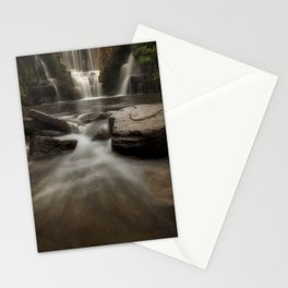 The waterfall at Penllergare Valley Stationery Cards