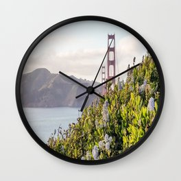 The Golden Gate Bridge in Spring Wall Clock