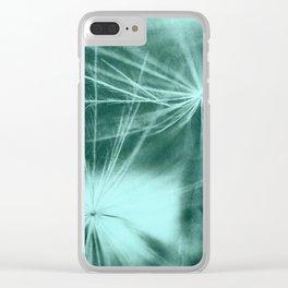 Dandelion Art 3 Clear iPhone Case