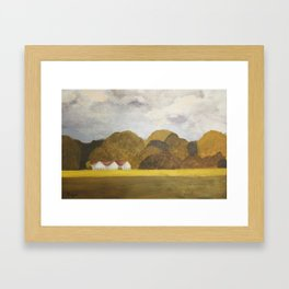Storm is coming... Framed Art Print