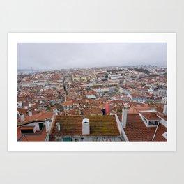 Lisbon Rooftops Art Print
