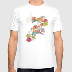 Country Garden White SMALL Mens Fitted Tee