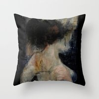 imagerybydianna Throw Pillows featuring apophrades by Imagery by dianna