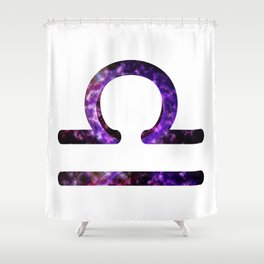 Galactic Libra Shower Curtain