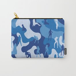 Sexy Girl on Navy Military Camo Carry-All Pouch