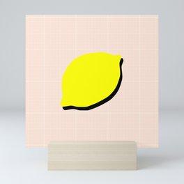 Minimal Lemon Print Mini Art Print