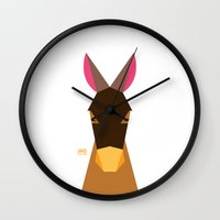 donkey Wall Clocks featuring Donkey by Page 84 Design