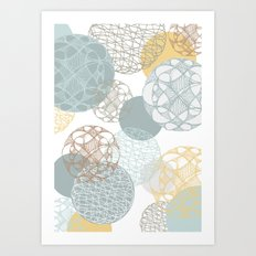 Floating Circles Art Print