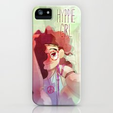Hippy girl iPhone (5, 5s) Slim Case