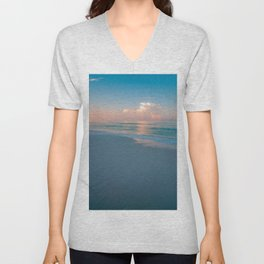 Blue Ocean Water And Sky From The Beach Unisex V-Neck
