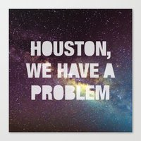 houston Canvas Prints featuring Houston by Text Guy