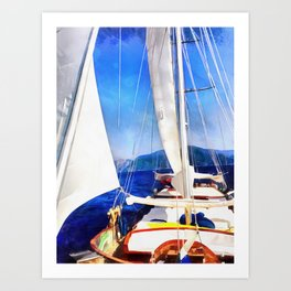 Land Was Created For Boats To Visit Art Print