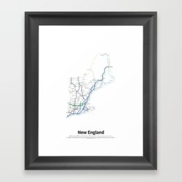 Highways of the USA – New England Framed Art Print