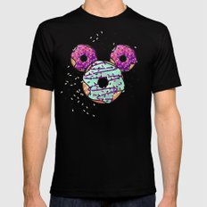 Pop Donut -  Berry Frosting LARGE Mens Fitted Tee Black