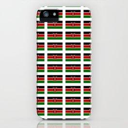 Flag of Kenya -kenyan,kenia,rift valley,serengeti,kilimanjaro,nairobi,mombasa iPhone Case