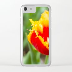Fringed tulips Clear iPhone Case