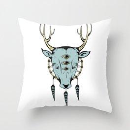 The cosmic deer Throw Pillow