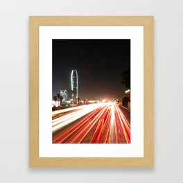 the fast lane Framed Art Print