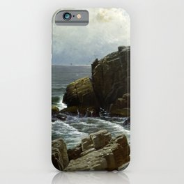 Alfred Thompson Bricher - Castle Rock, Marblehead (1878) iPhone Case