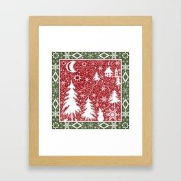 Winter. Christmas. Framed Art Print