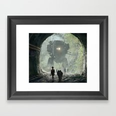 1920 - secret facility Framed Art Print
