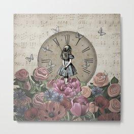 Alice In Wonderland - Wonderland Garden Metal Print