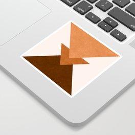 Geometric Blocks in Terracotta Sticker