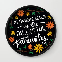 Fall of the Patriarchy Wall Clock