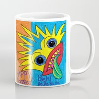 cyclops Mugs featuring Cyclops Monster :-) by Sylvie Heasman