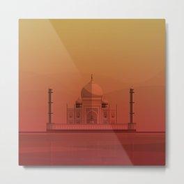 Taj Mahal, India. Metal Print