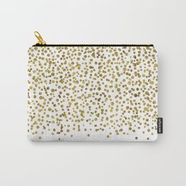 Gold Confetti Sparkle and Shine Carry-All Pouch