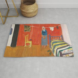 Farmhouse with a Stove by Karl Pärsimägi, 1935 Rug