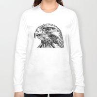 hawk Long Sleeve T-shirts featuring Hawk by Emma Dowling