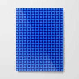Brandeis Blue and Navy Blue Diamonds Metal Print
